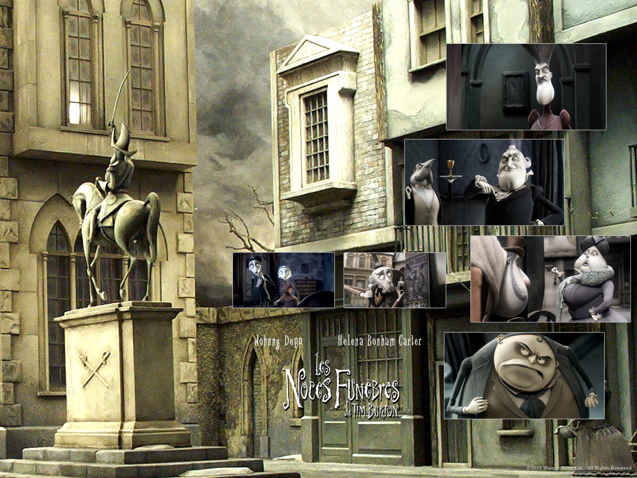 Wallpaper LES NOCES FUNEBRES de TIM BURTON Ville