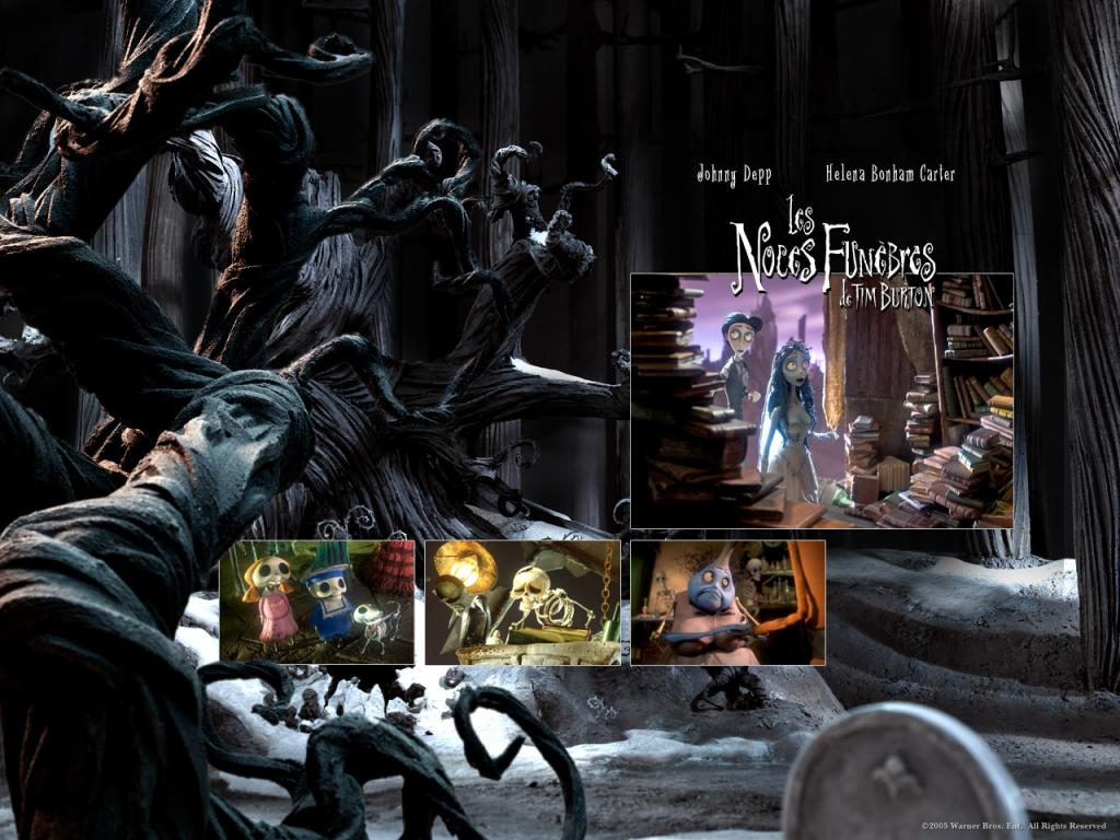 Wallpaper LES NOCES FUNEBRES de TIM BURTON Arbre