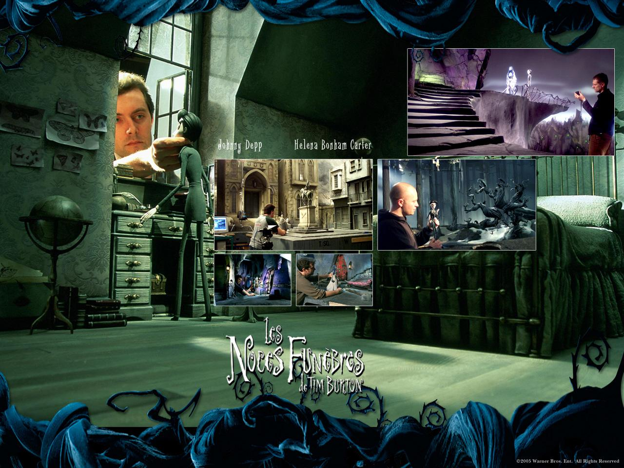 Wallpaper LES NOCES FUNEBRES de TIM BURTON making off