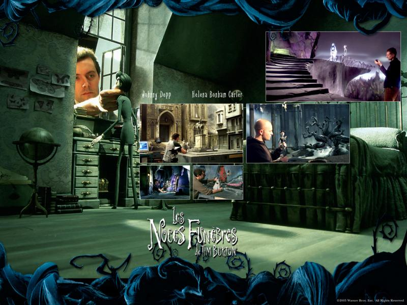 Wallpaper making off LES NOCES FUNEBRES de TIM BURTON