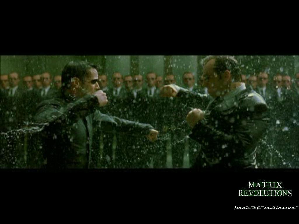 Wallpaper Matrix neo et smith