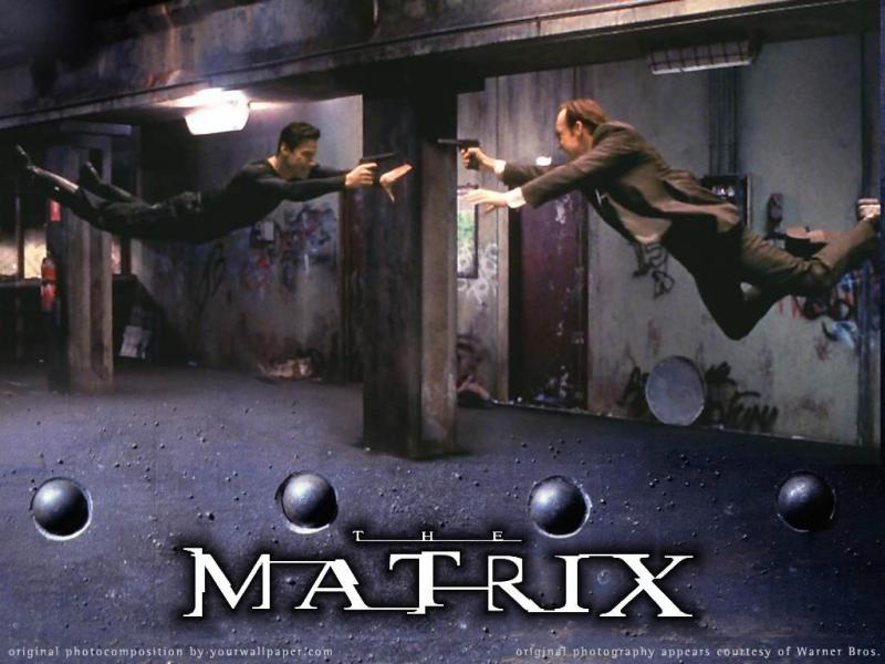 Wallpaper au flingue Matrix