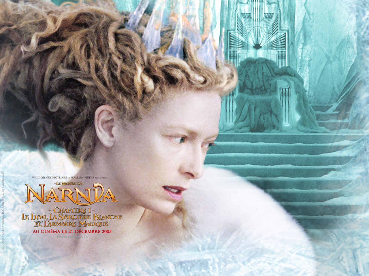 Wallpaper Le Monde de Narnia Reine blanche Tilda Swinton