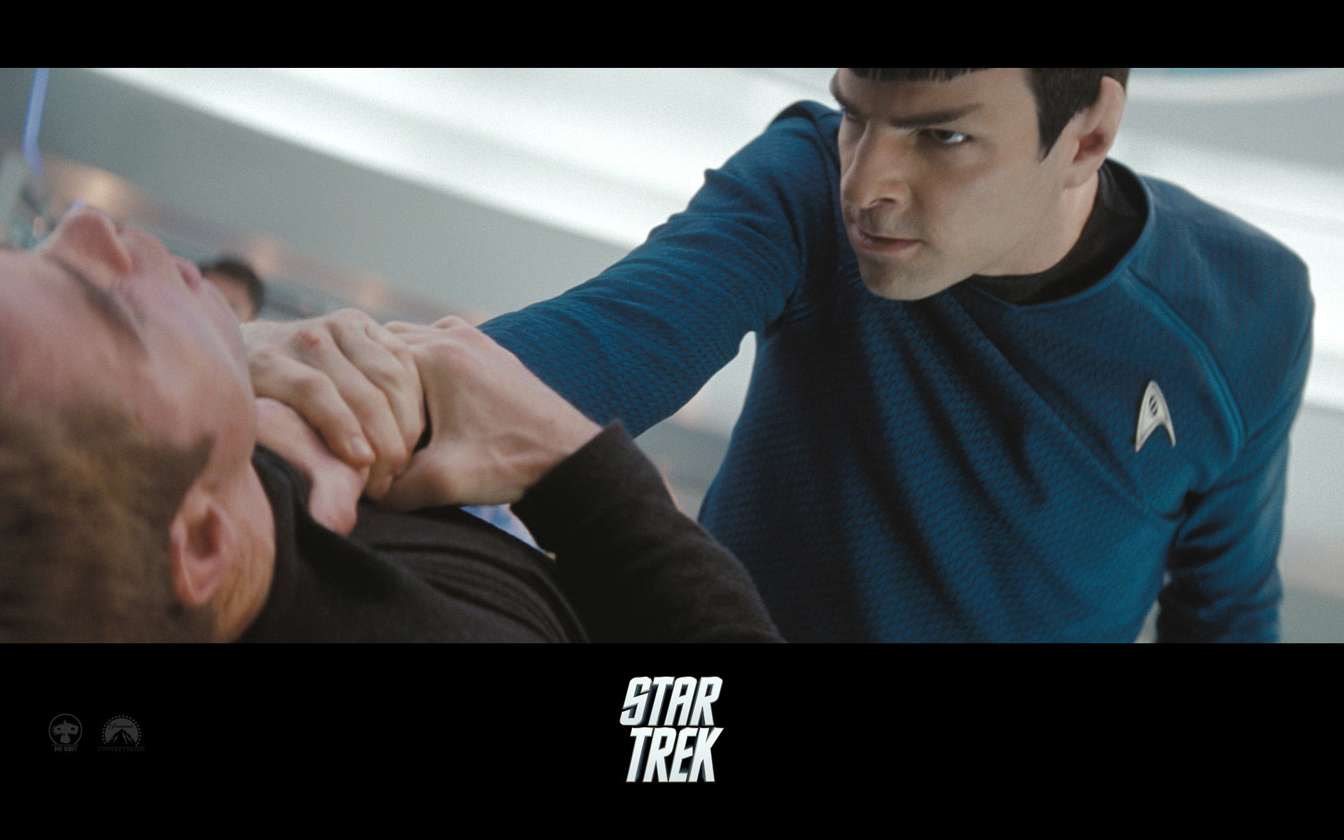 Wallpaper Star Trek Zachary Quinto énervé - Spock