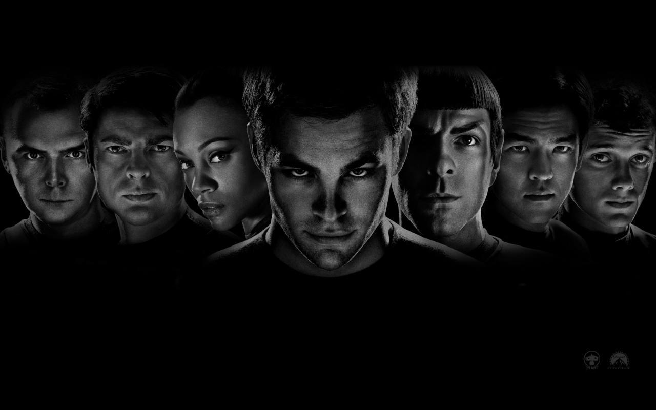 Wallpaper Star Trek Principaux Acteurs