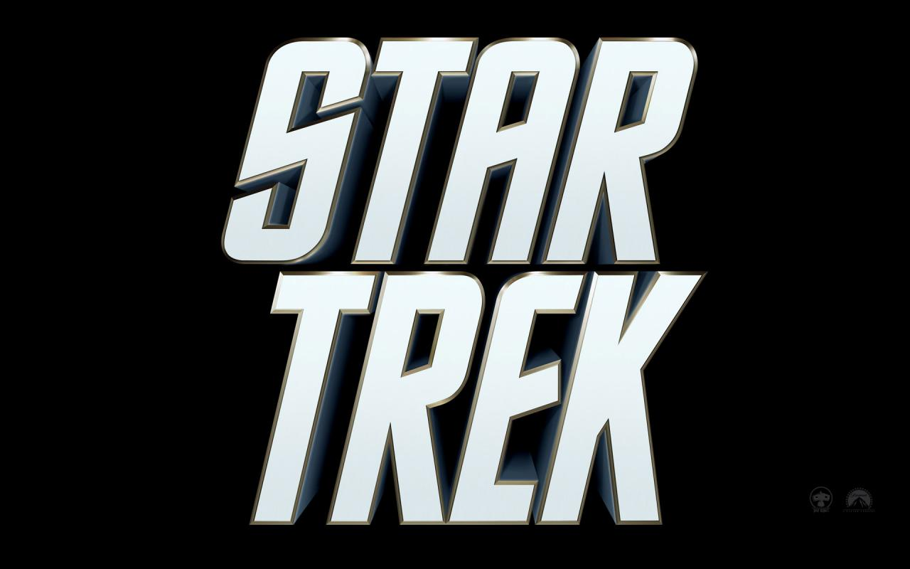 Wallpaper Titre blanc du Film fond noir Star Trek