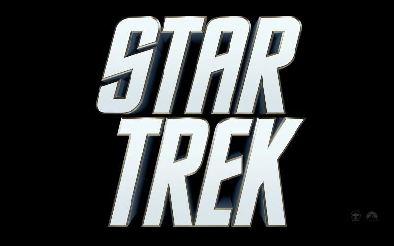 Wallpaper Star Trek Titre blanc du Film fond noir