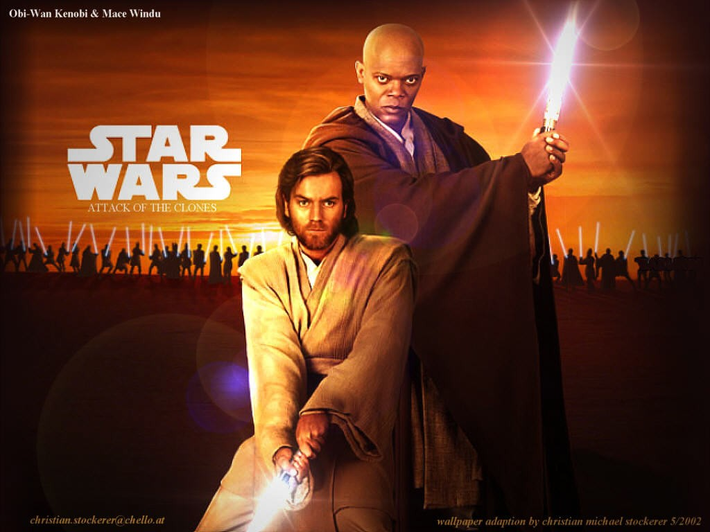 Wallpaper Obi & Windu Star Wars