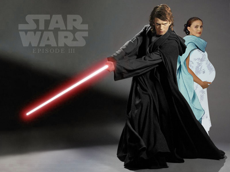 Wallpaper anakin et amidala Star Wars