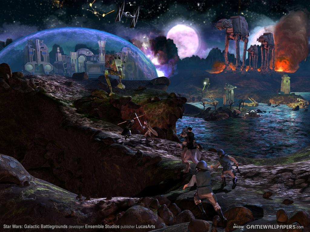 Wallpaper galactic battlegrounds Star Wars