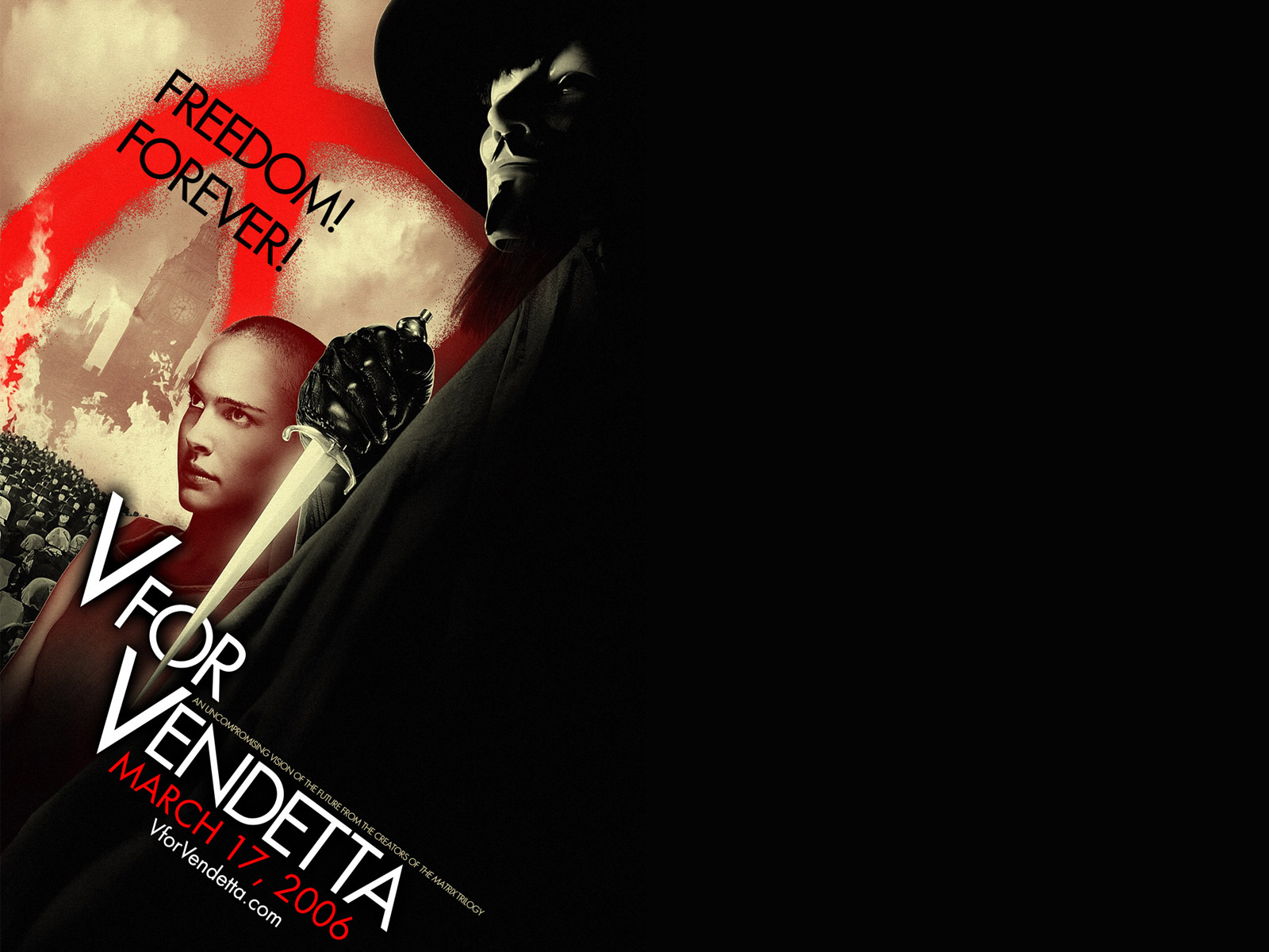 Wallpaper Evey Hammond & V V pour Vendetta - V for Vendetta