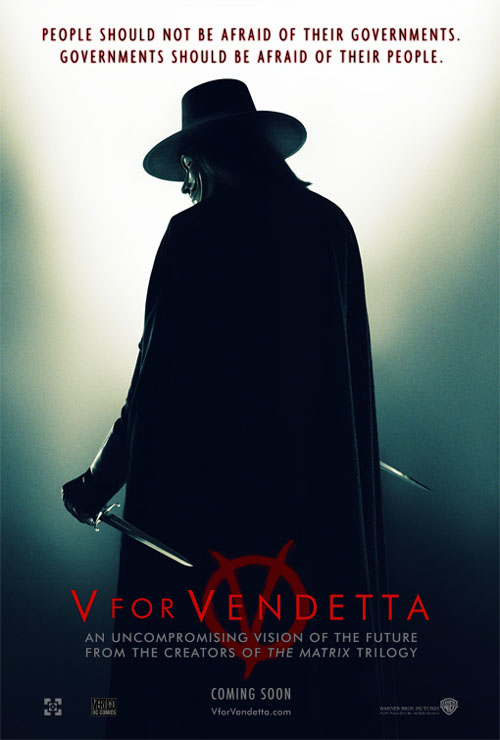 Wallpaper V pour Vendetta - V for Vendetta affiche