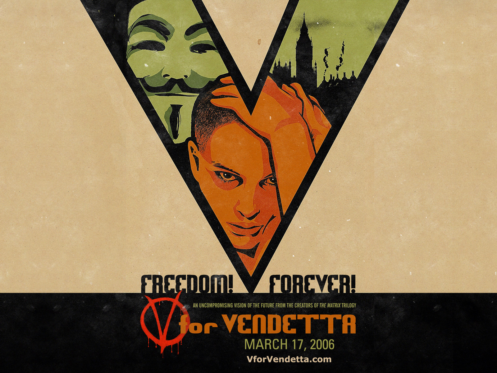Wallpaper V pour Vendetta - V for Vendetta grand V