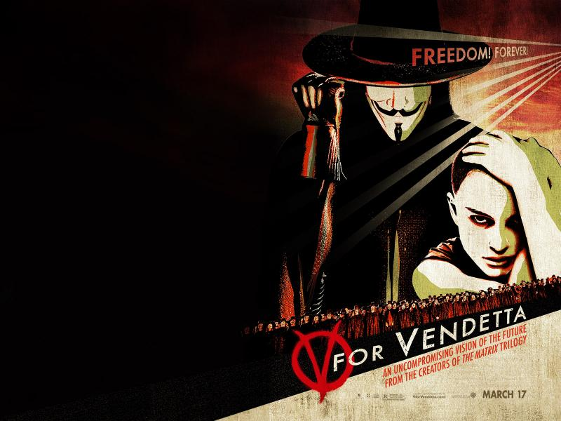 Wallpaper V pour Vendetta - V for Vendetta Natalie Portman & Hugo Weaving