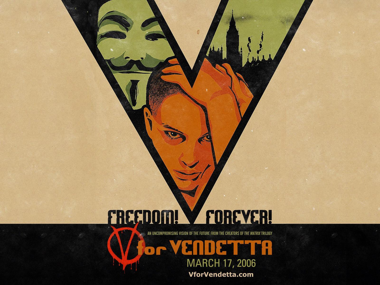 Wallpaper V pour Vendetta - V for Vendetta grand V