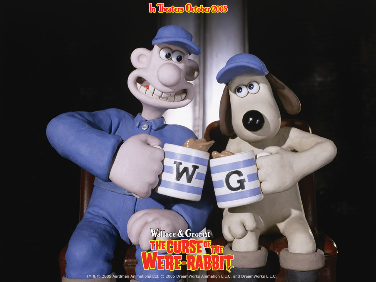 Wallpaper Mug Wallace et Gromit