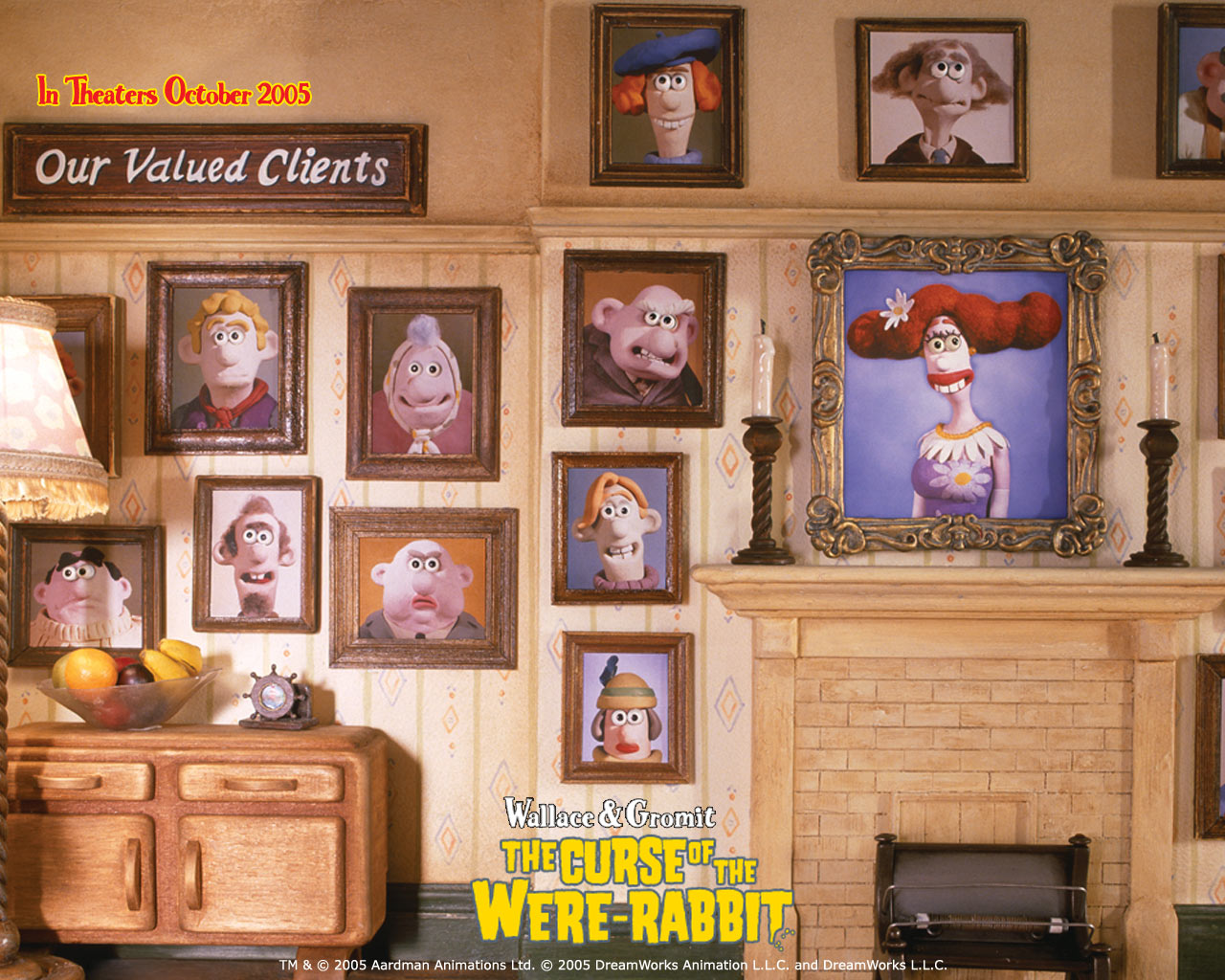 Wallpaper Wallace et Gromit Portaits de Famille
