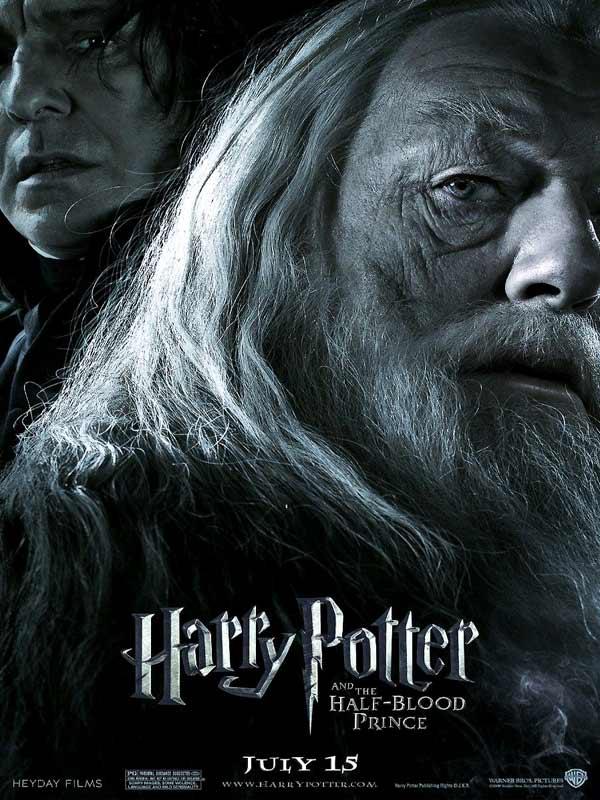 Wallpaper Harry Potter Dumbledore noir et blanc