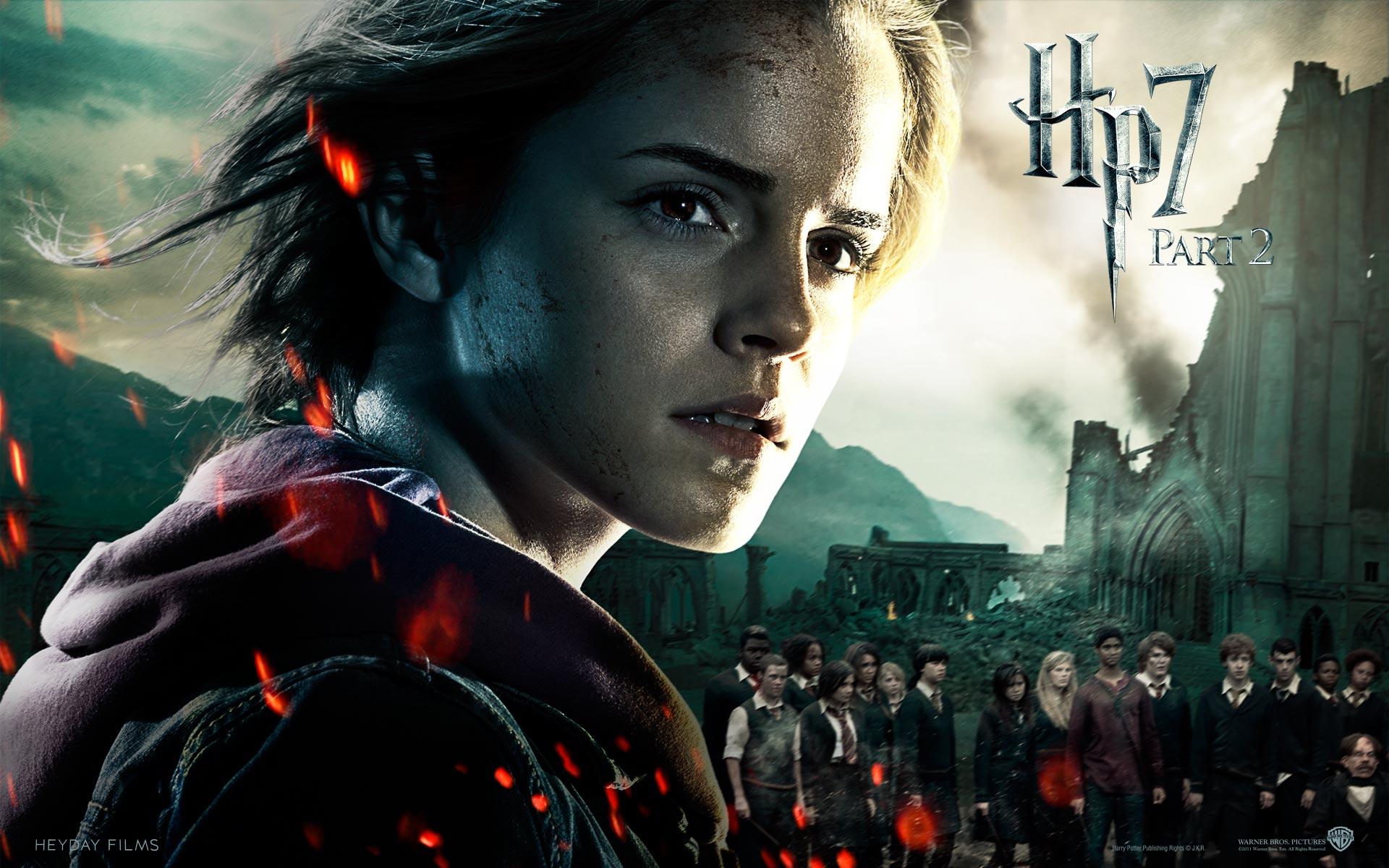 Wallpaper Harry Potter HP7 Hermione