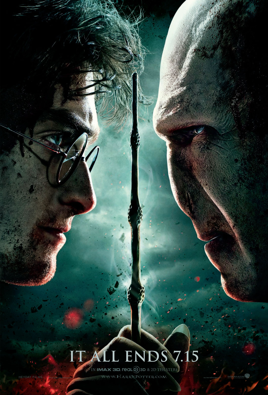 Wallpaper Harry Potter HP7 Part 2 poster - Harry and Voldemort