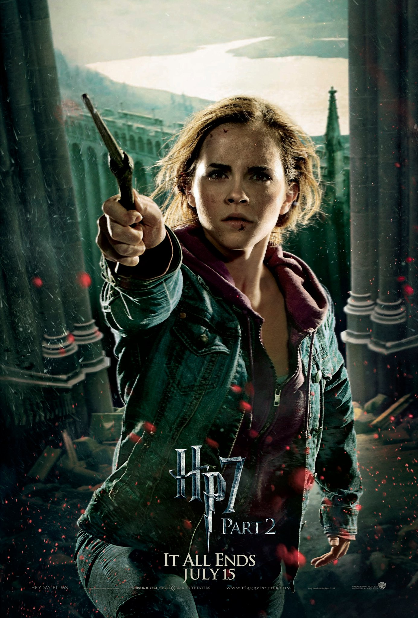 Wallpaper HP7 Part 2 poster - Hermione Harry Potter