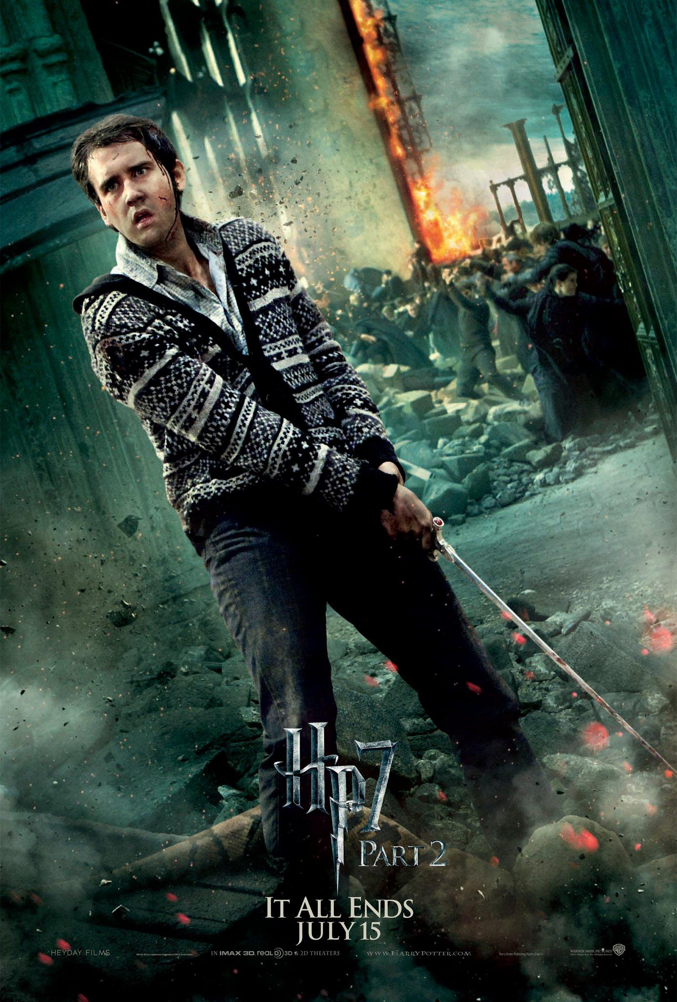 Wallpaper HP7 Part 2 poster - Neville Harry Potter