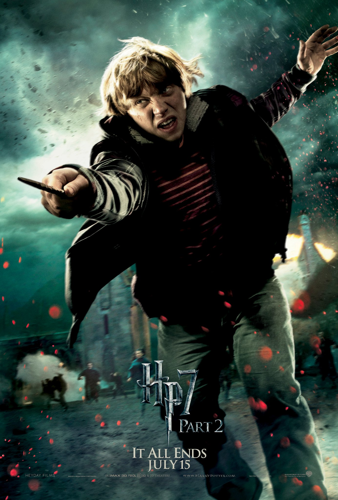 Wallpaper HP7 Part 2 poster - Ron Harry Potter