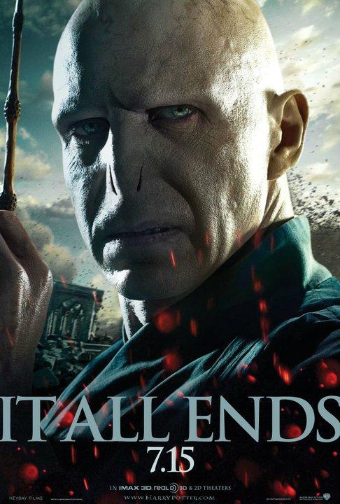 Wallpaper HP7 Part 2 poster - Voldemort Harry Potter