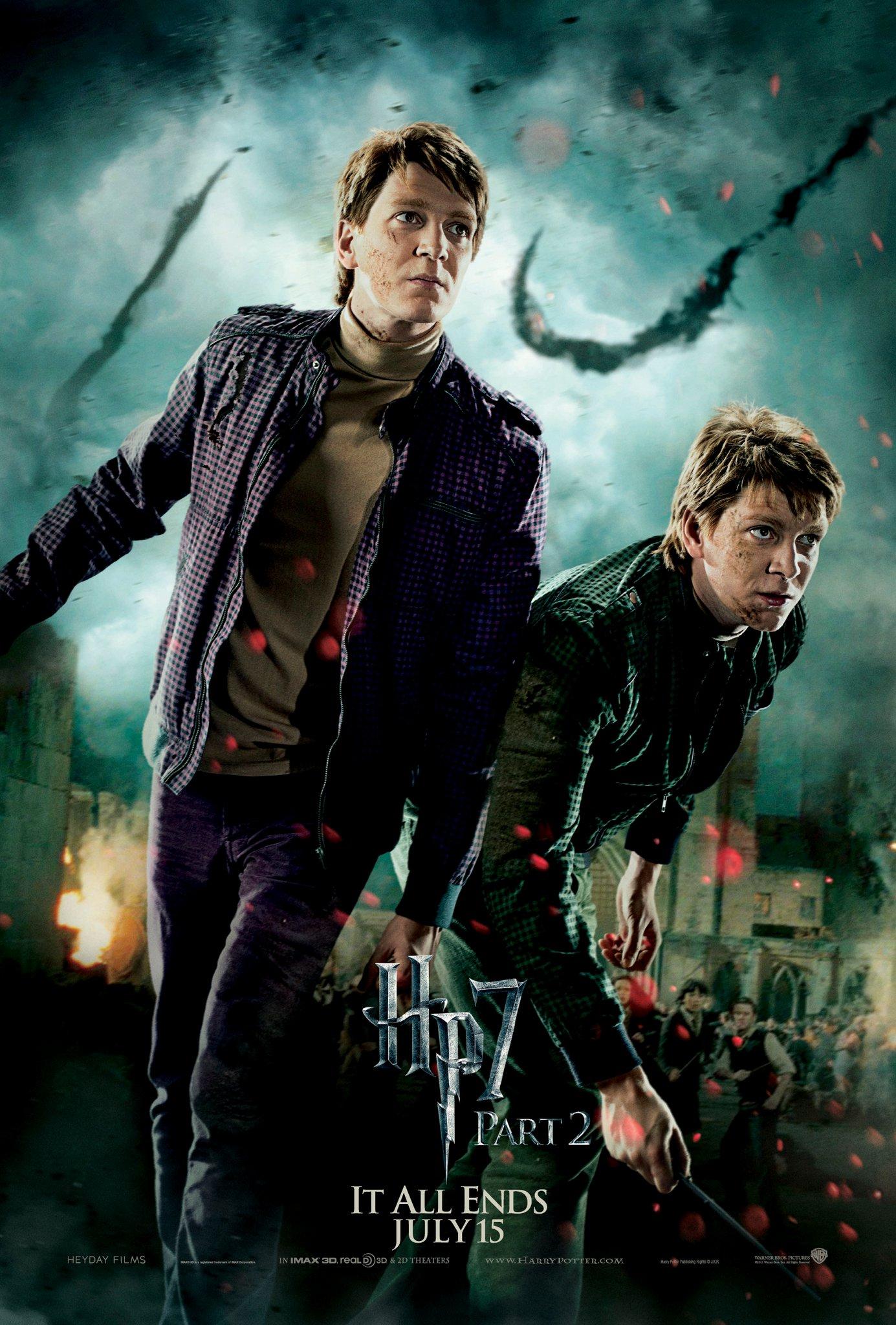 Wallpaper HP7 Part 2 poster - twins les jumeaux Harry Potter