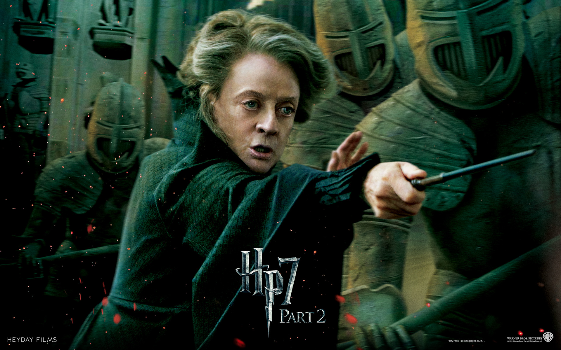 Wallpaper Harry Potter HP7 Professor Minerva McGonagall - Maggie Smith