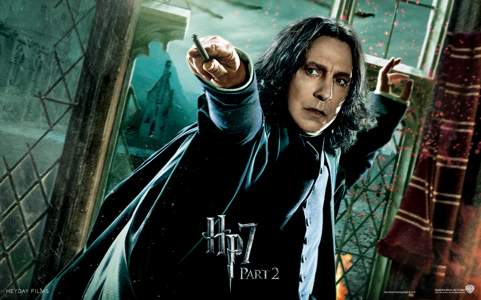 Wallpaper HP7 Professor Severus Snape - Alan Rickman Harry Potter
