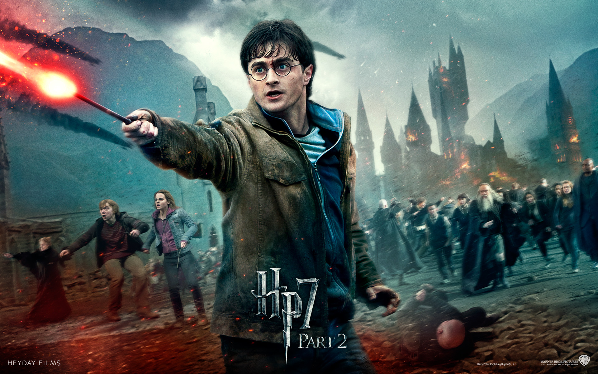 Wallpaper HP7 fight hero Harry Potter - Daniel Radcliffe Harry Potter