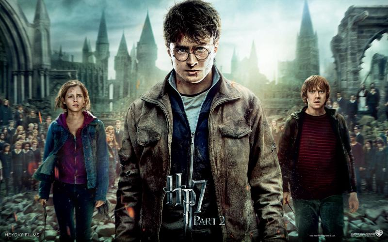 Wallpaper Harry Potter Dernier episode nos 3 heros