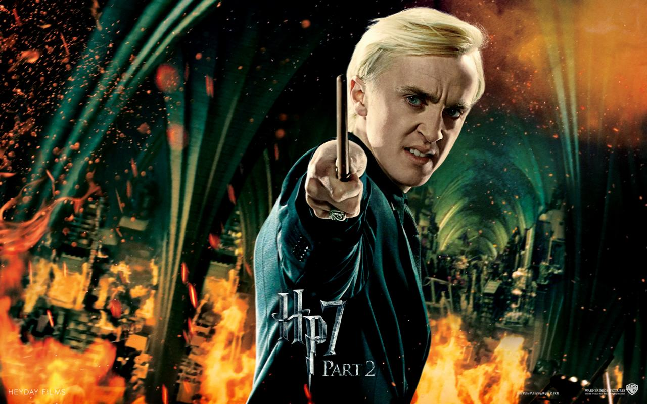 Wallpaper Harry Potter HP7 Draco Malfoy - Tom Felton