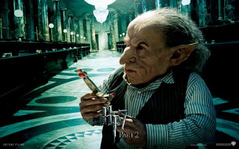 Wallpaper HP7 Goblin - Warwick Davis Harry Potter