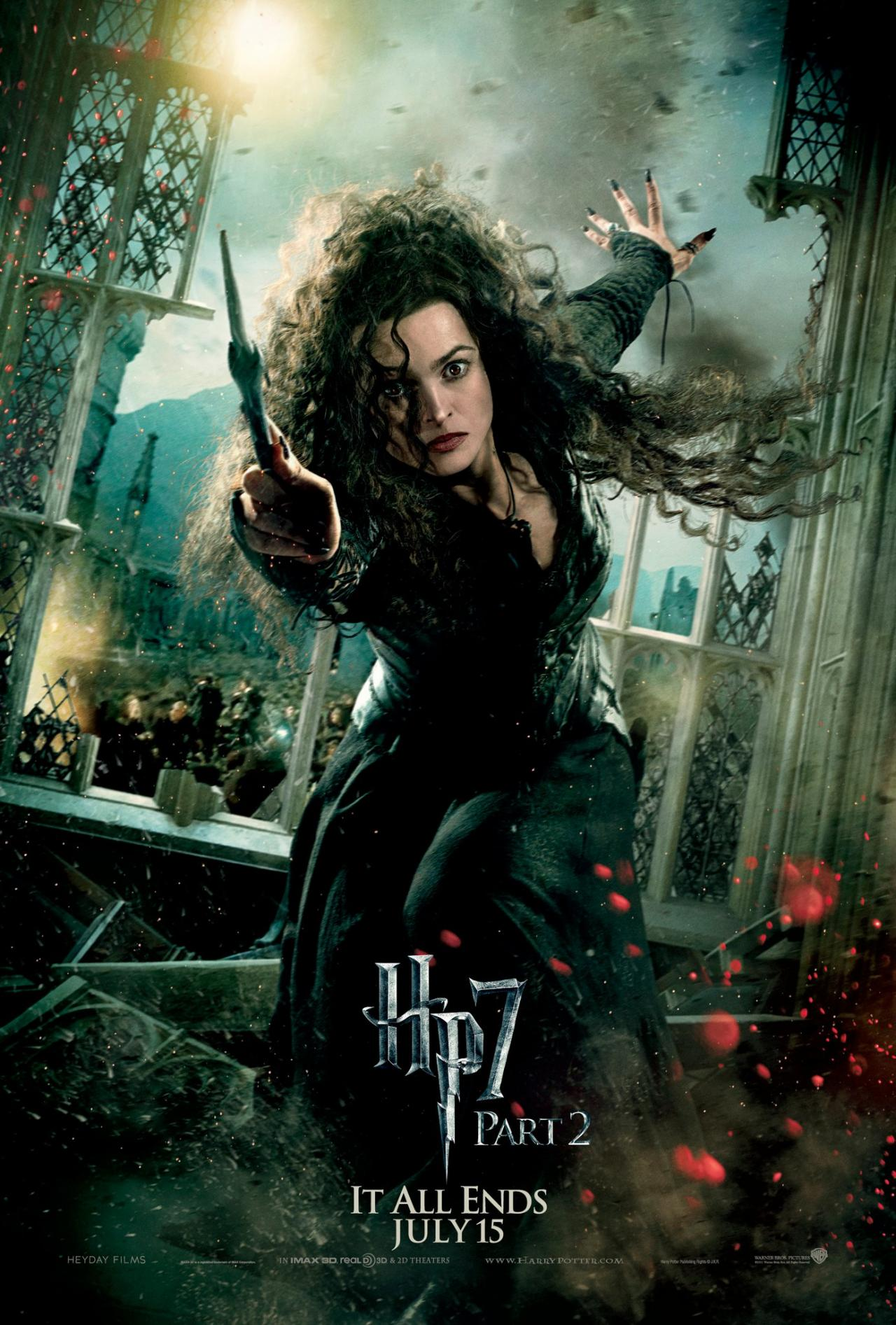 Wallpaper Harry Potter HP7 Part 2 poster - Bellatrix