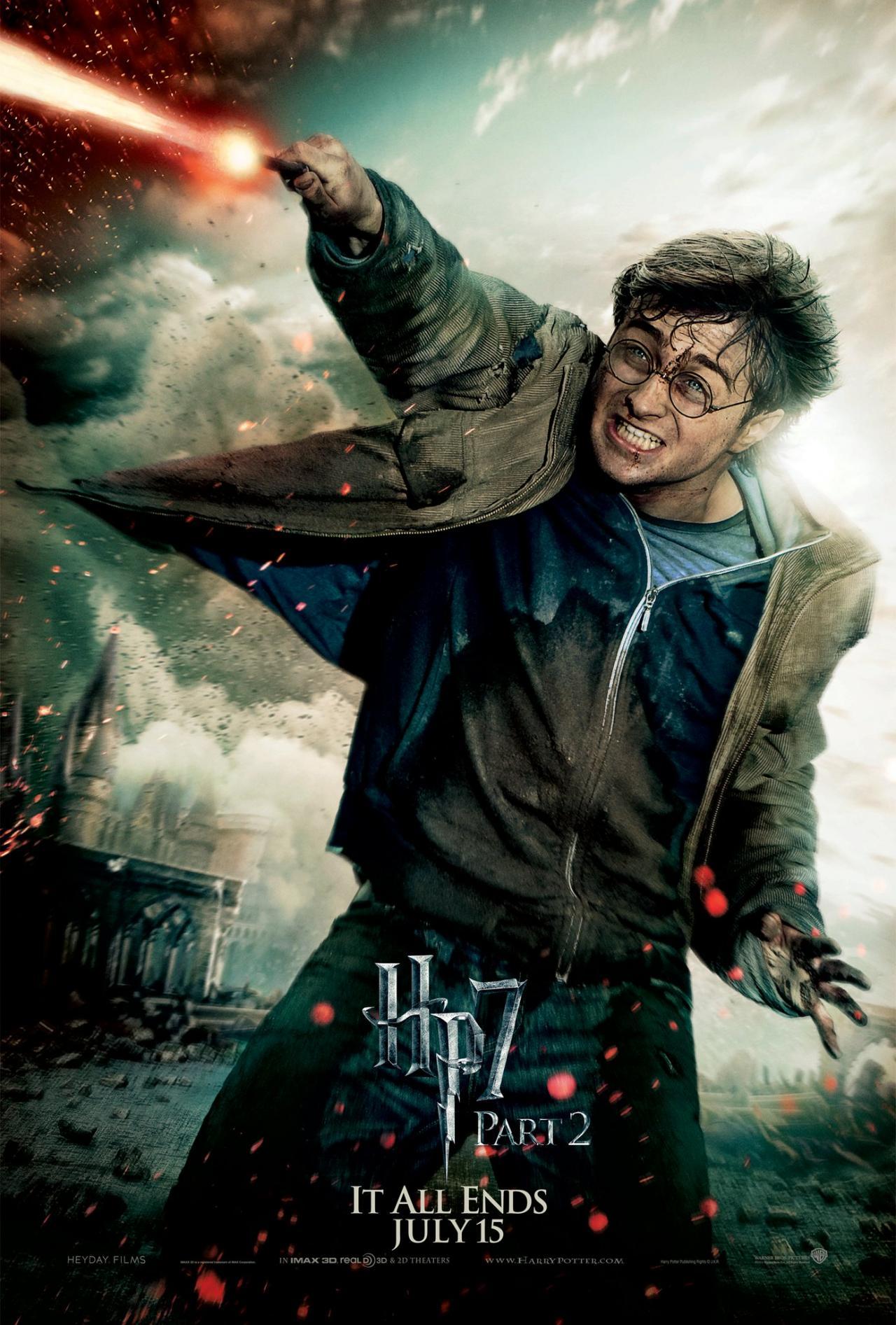 Wallpaper Harry Potter HP7 Part 2 poster - Harry