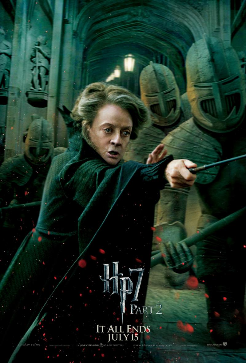 Wallpaper Harry Potter HP7 Part 2 poster - Minerva McGonagall