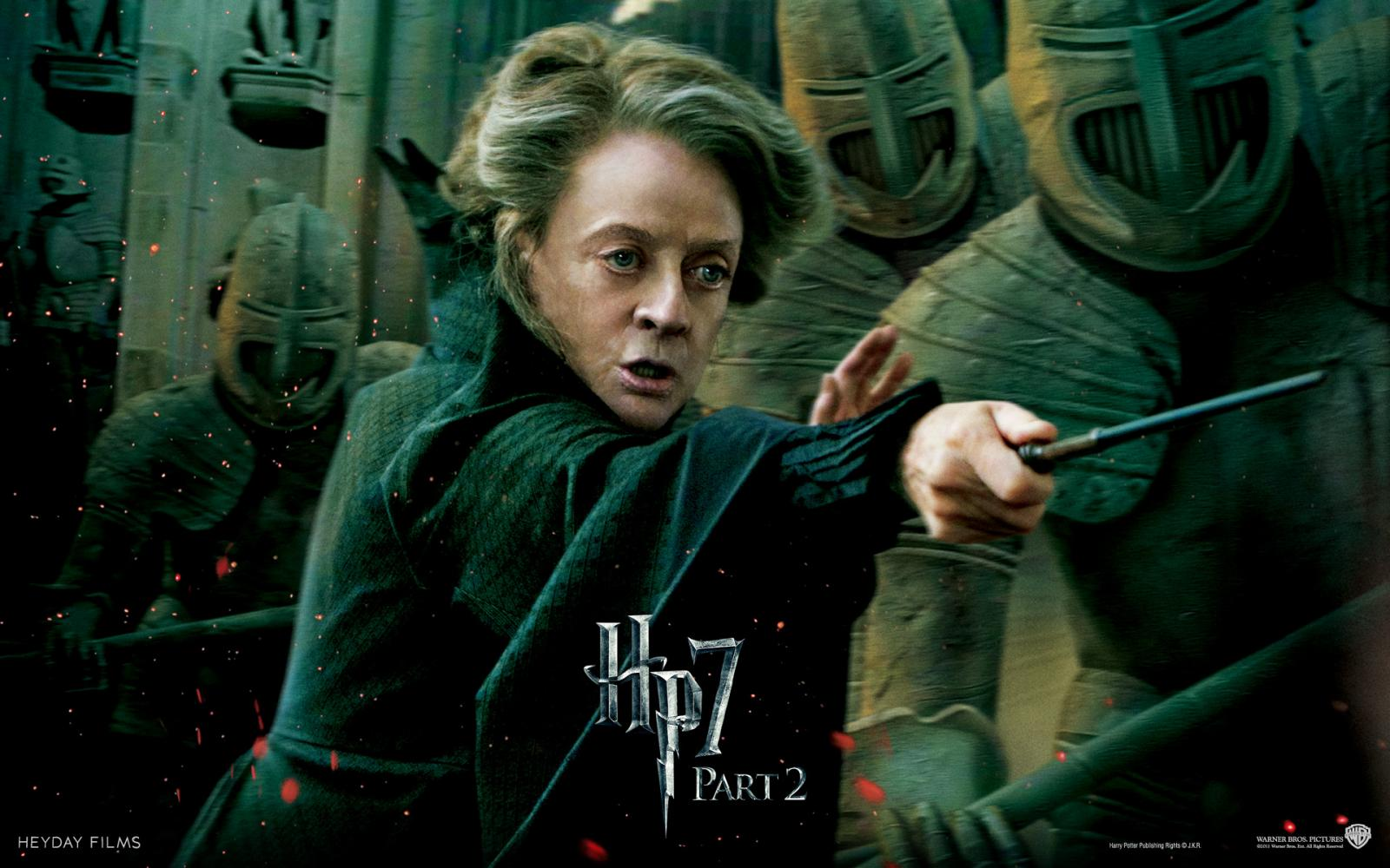 Wallpaper HP7 Professor Minerva McGonagall - Maggie Smith Harry Potter
