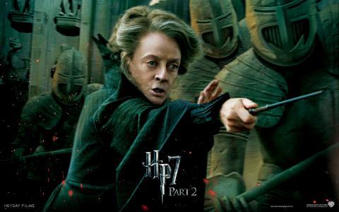 Wallpaper HP7 Professor Minerva McGonagall - Maggie Smith Harry Potter