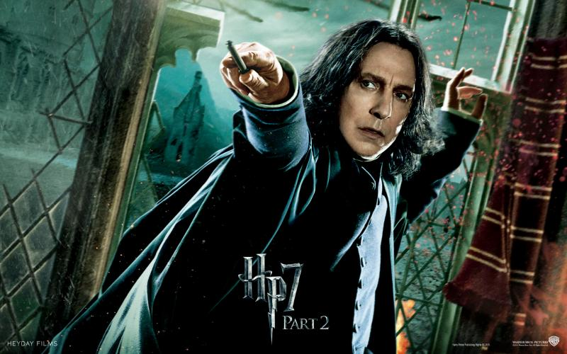 Wallpaper Harry Potter HP7 Professor Severus Snape - Alan Rickman