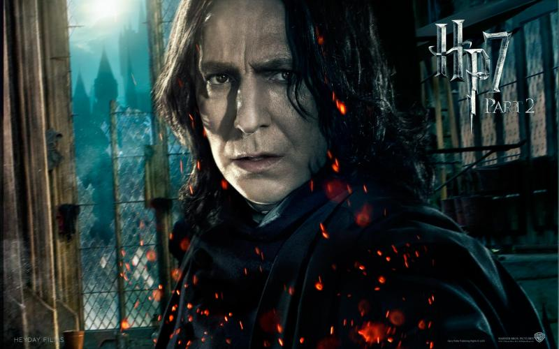Wallpaper Harry Potter HP7 Professor Severus Snape