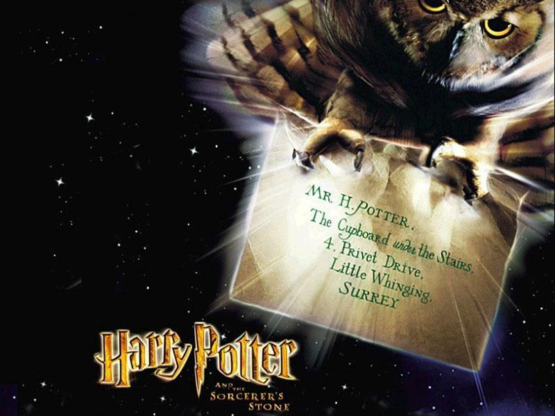 Wallpaper Harry Potter lettre