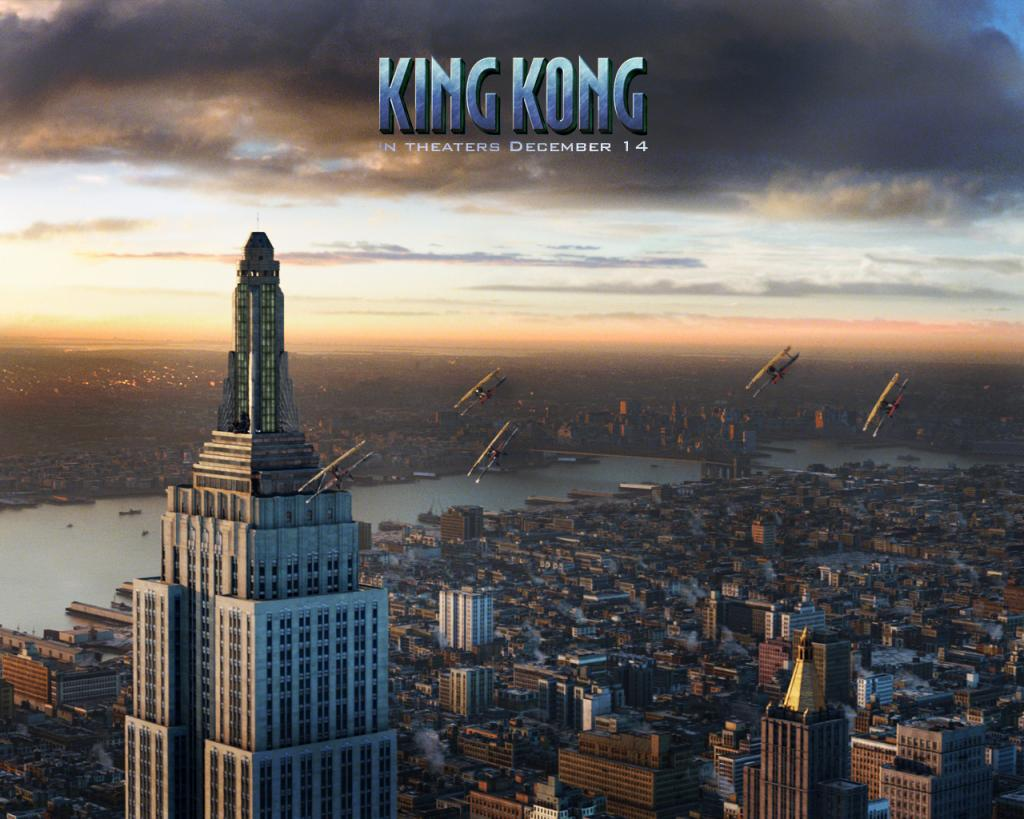 Wallpaper empire state building avions King Kong