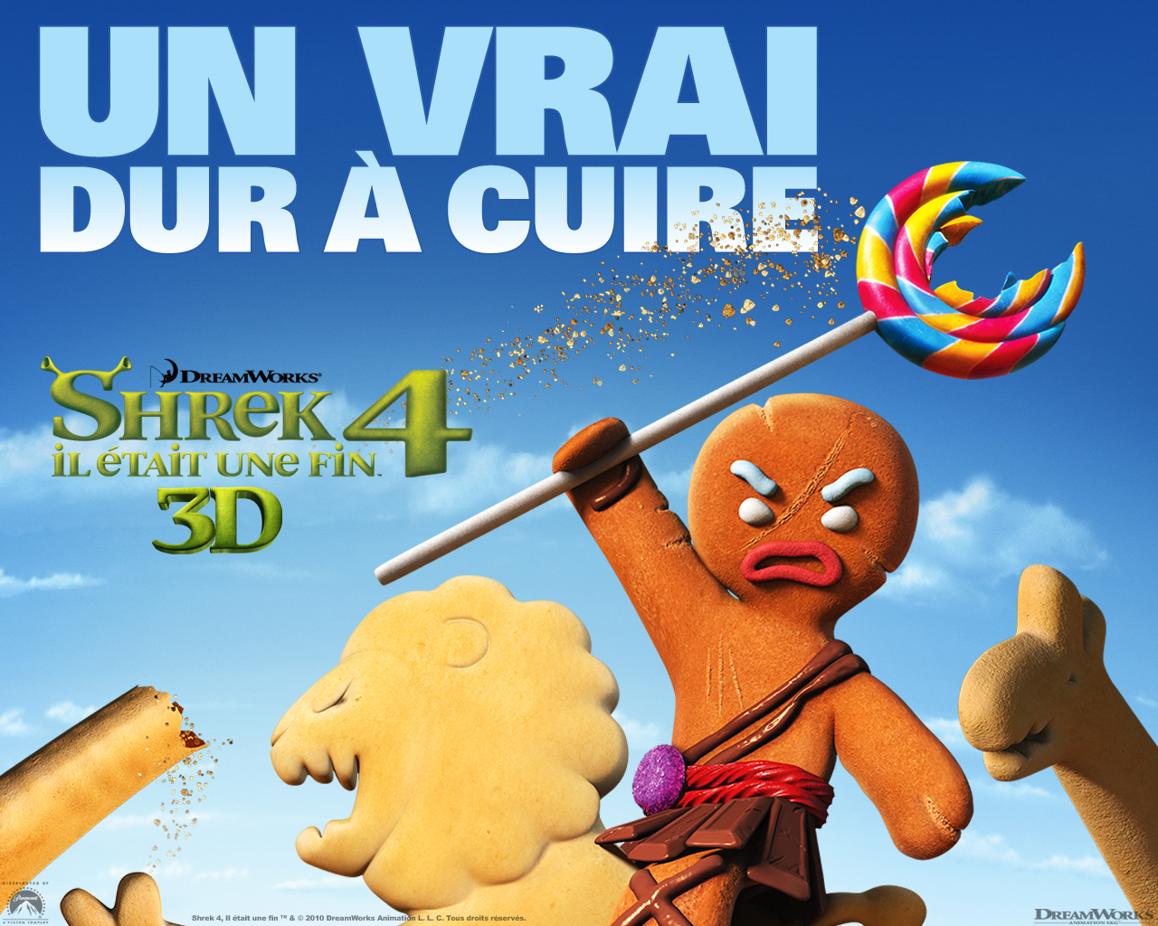 Wallpaper Shrek SHREK 4 gingy biscuit rambo