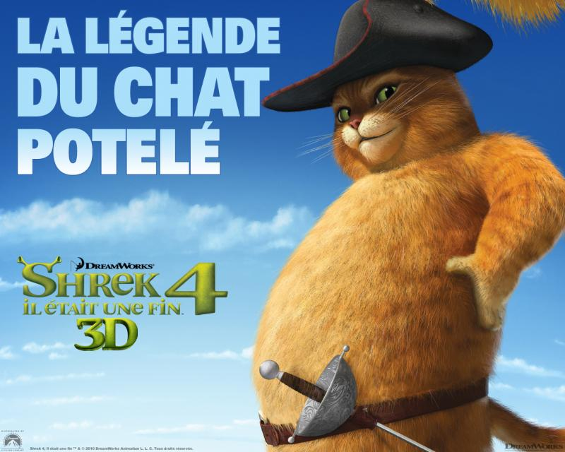 Wallpaper SHREK 4 Chat potte potele Shrek