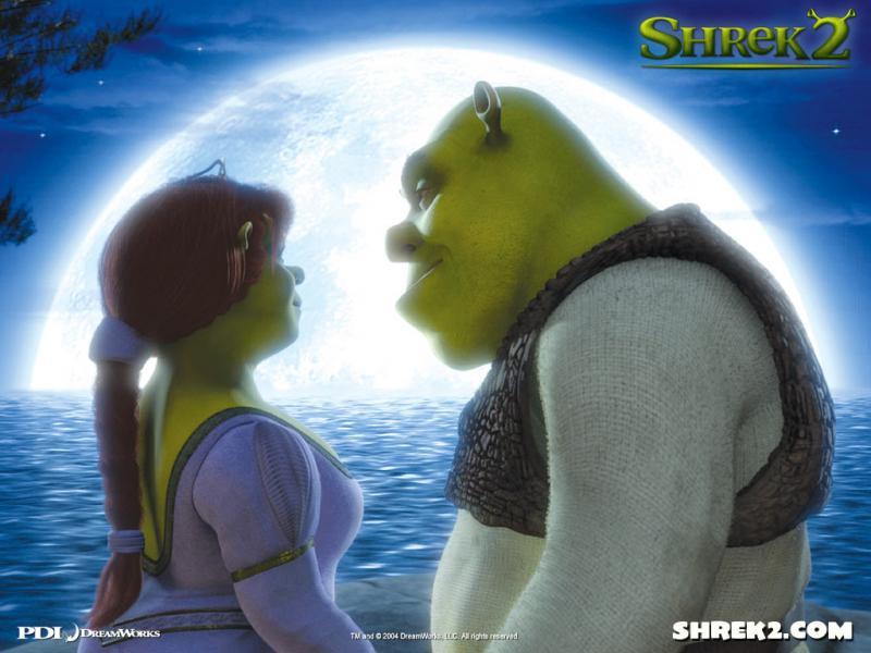 Wallpaper clair de lune Shrek