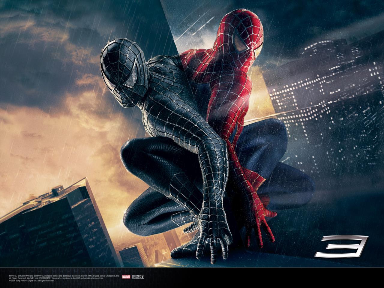 Wallpaper Peter Parker bon vs mauvais Spiderman