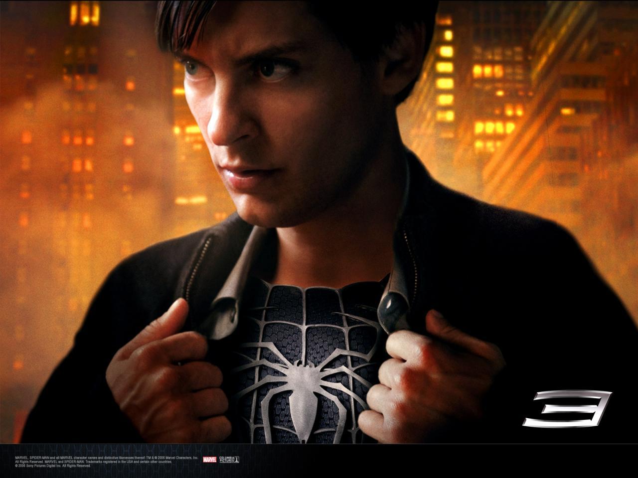Wallpaper Peter Parker cote sombre Spiderman