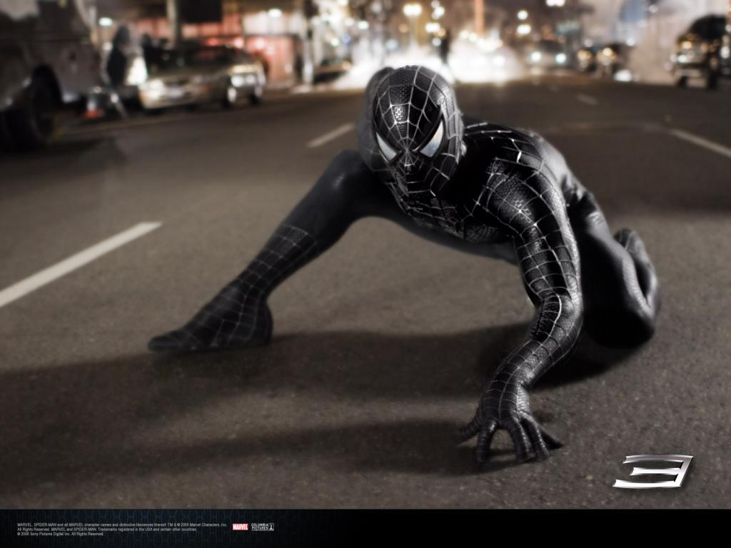 Wallpaper Peter sombre pret a bondir Spiderman